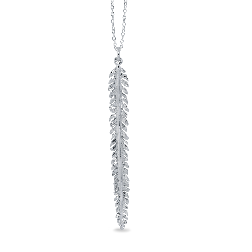 Angela Daniel Long Feather Pendant