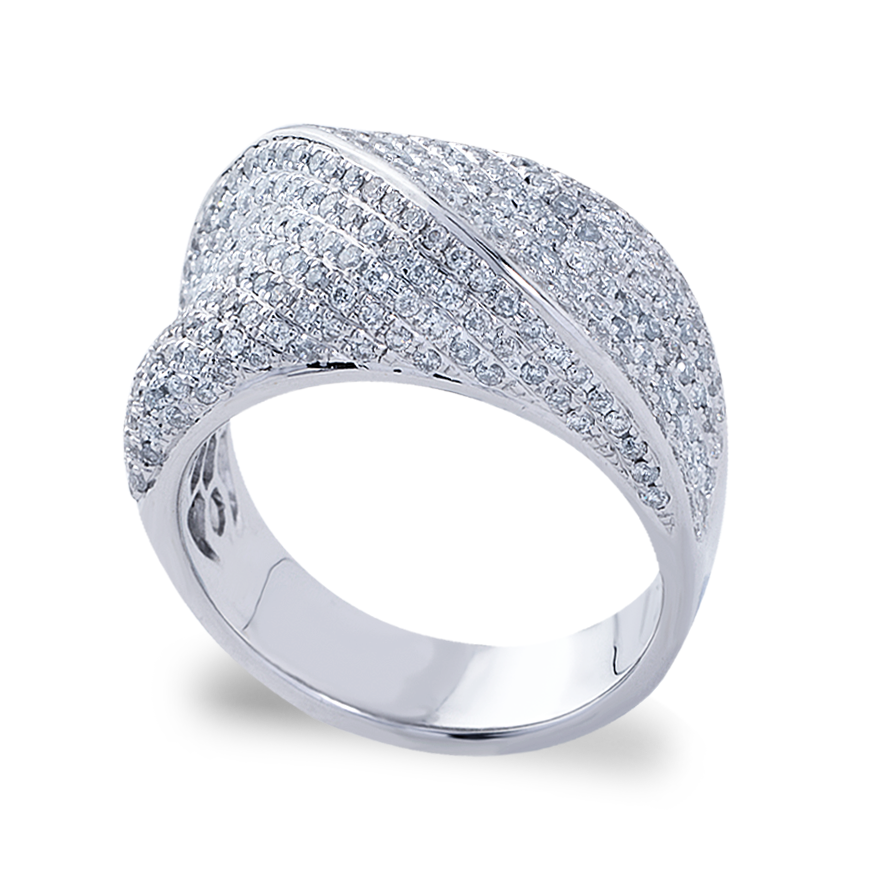 Wave Diamond Dress Ring