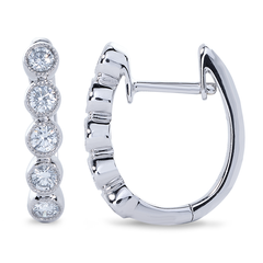 Diamond Cluster Hoops