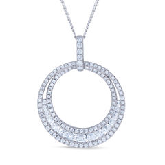 Diamond Double Circle Necklace