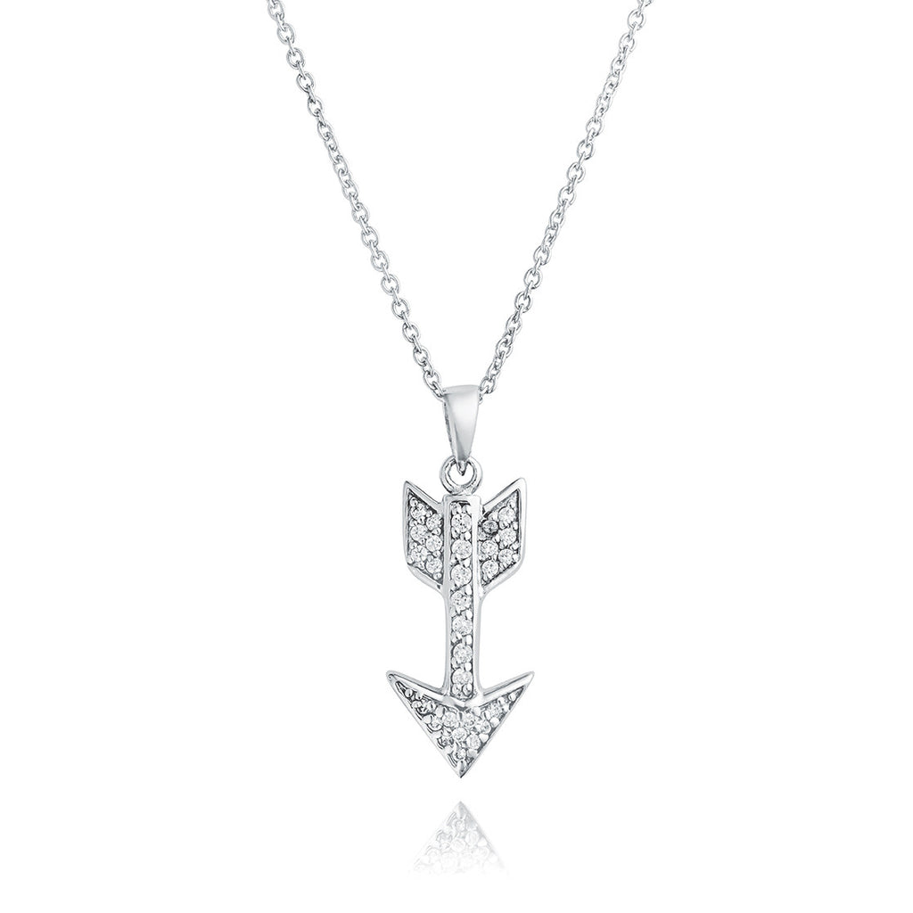 Angela Daniel Sparkle Arrow Pendant