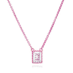 Angela Daniel Emerald Cut Necklace