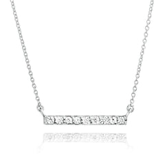 Angela Daniel Sparkle Bar Necklace
