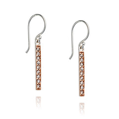 Angela Daniel Sparkle Bar Earrings