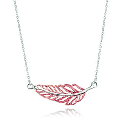 Angela Daniel Autumn Feather Necklace
