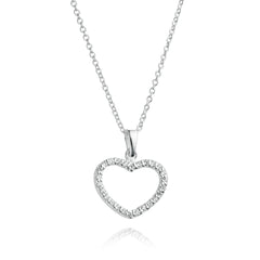 Angela Daniel Sparkle Heart Necklace