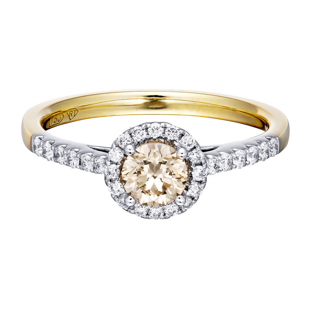 Champange Diamond Ring