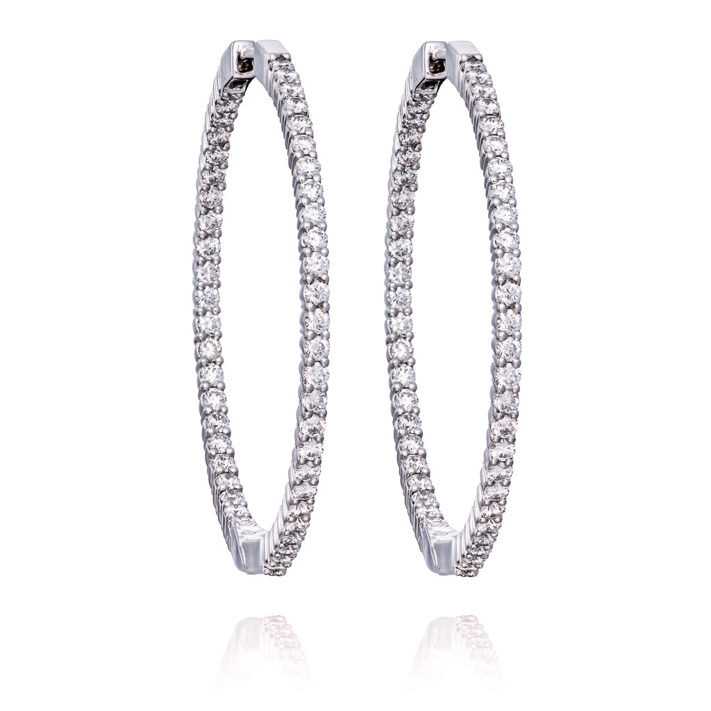 Diamond Large Hoop Earrings