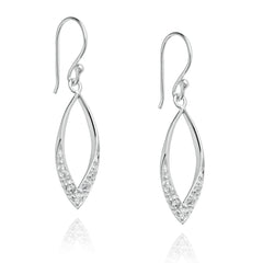 Angela Daniel Sparkle Flame Earrings