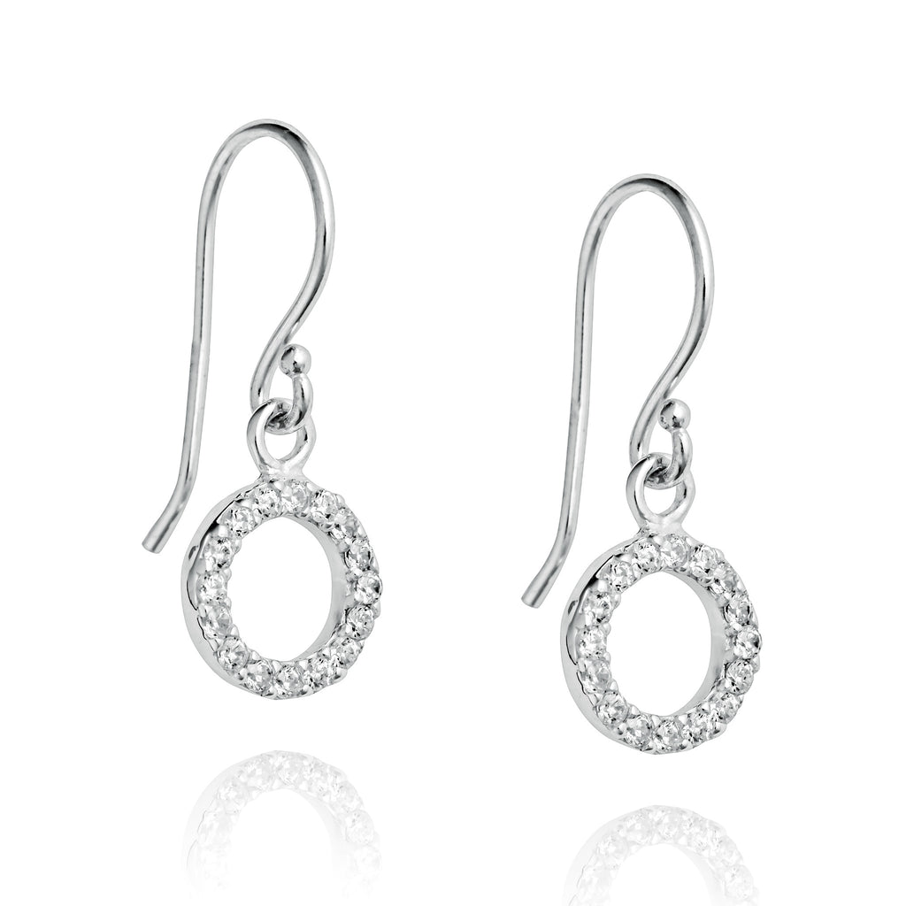 Angela Daniel Sparkle Circle Earrings