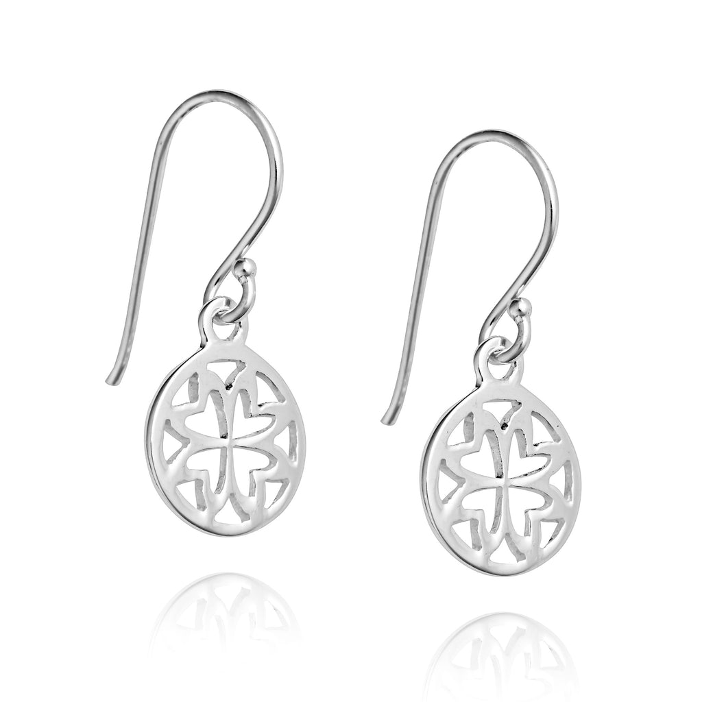 Angela Daniel Petal Disc Earrings