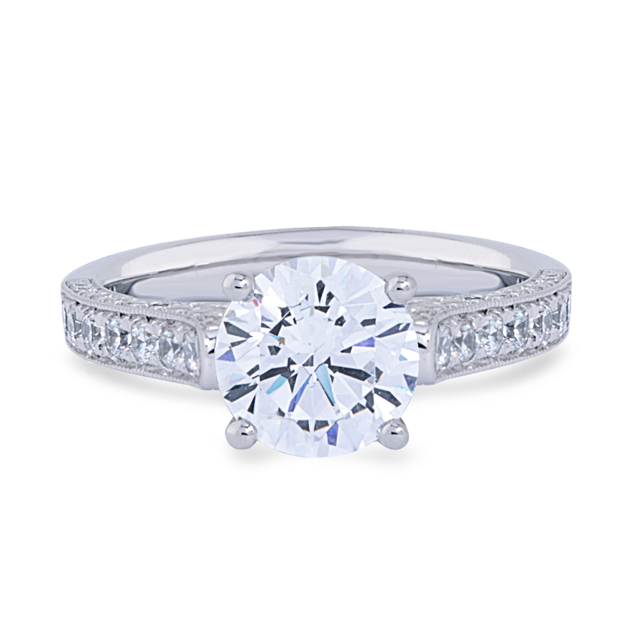 AUDREY SETTING - .50 CT PLAT