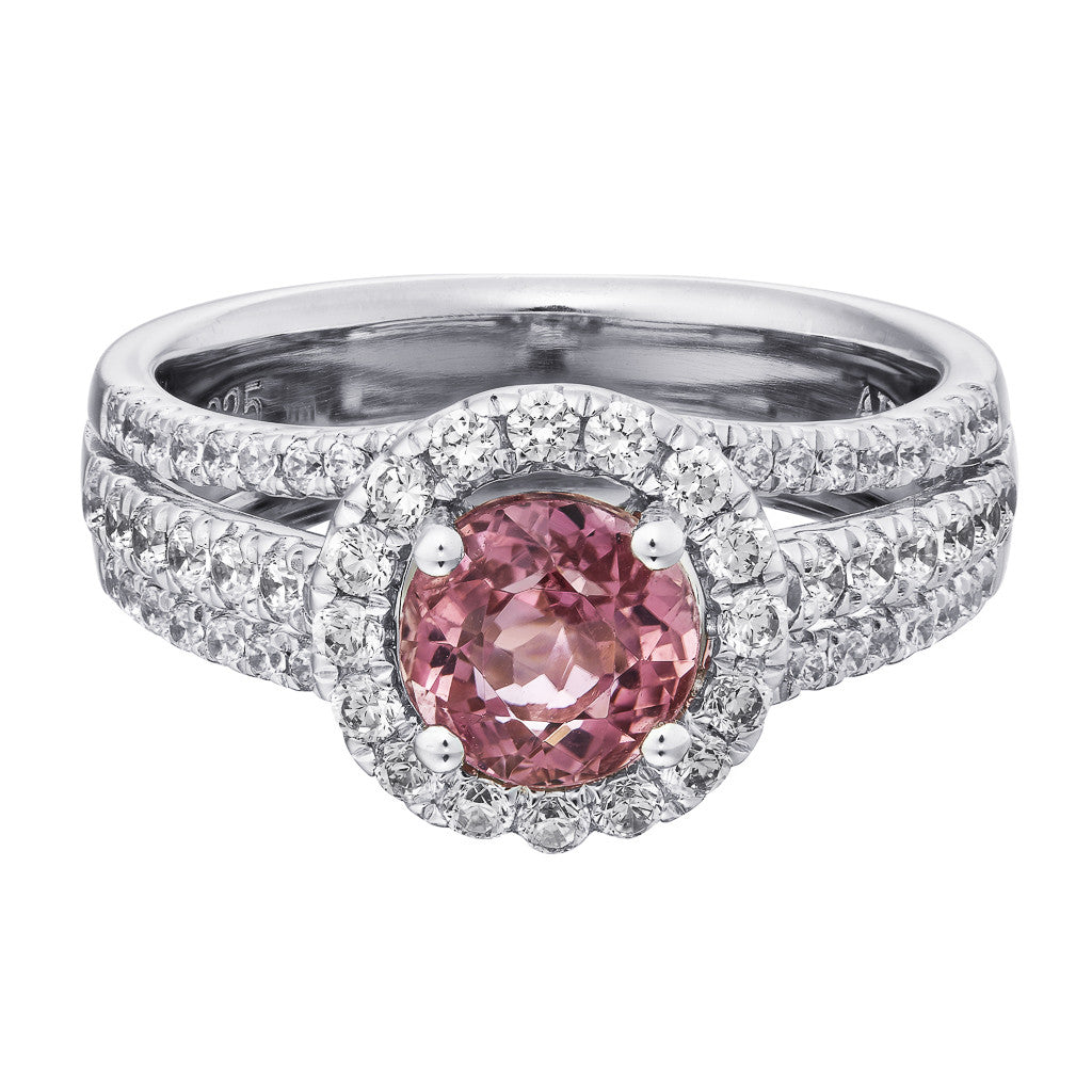 CAITLYN SETTING - PINK TOURMALINE