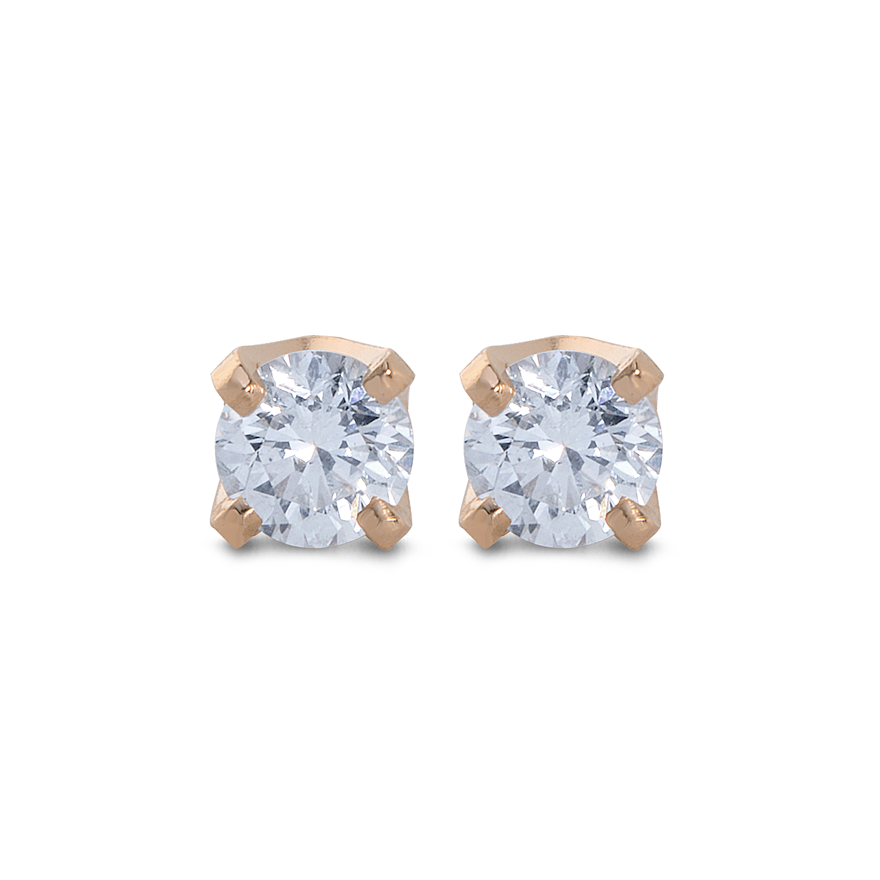 0.25ct Diamond Solitaire Stud Earrings