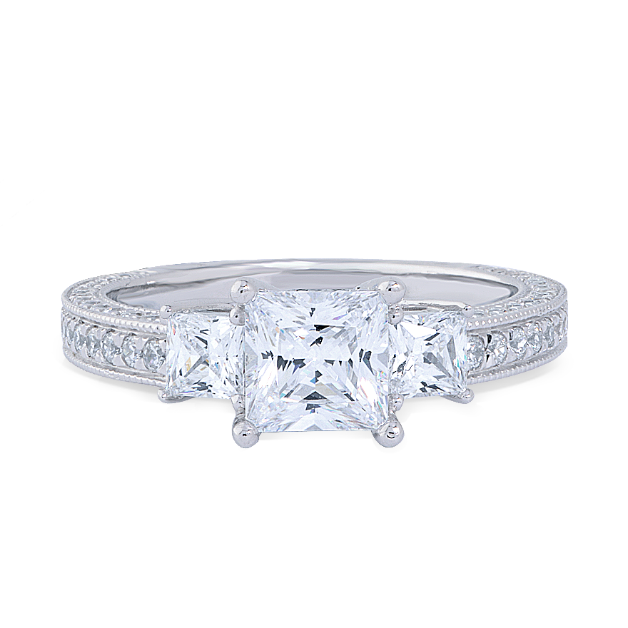 JASMINE SETTING - 1 CT PLATINUM