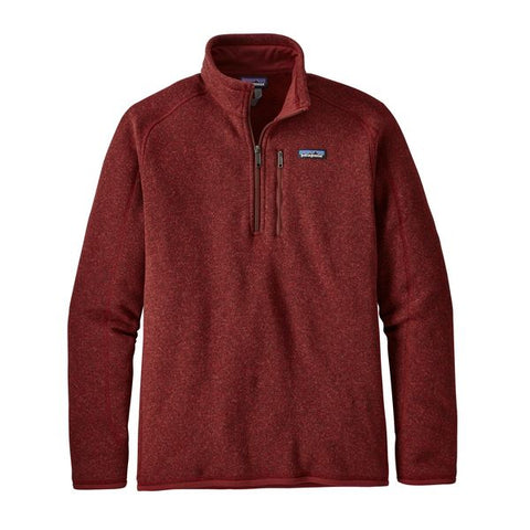 Patagonia Men's Better Sweater 1/4-Zip Fleece Fall 2018
