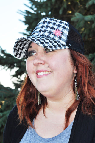 Black and White Plaid Spur Ridewear Hat