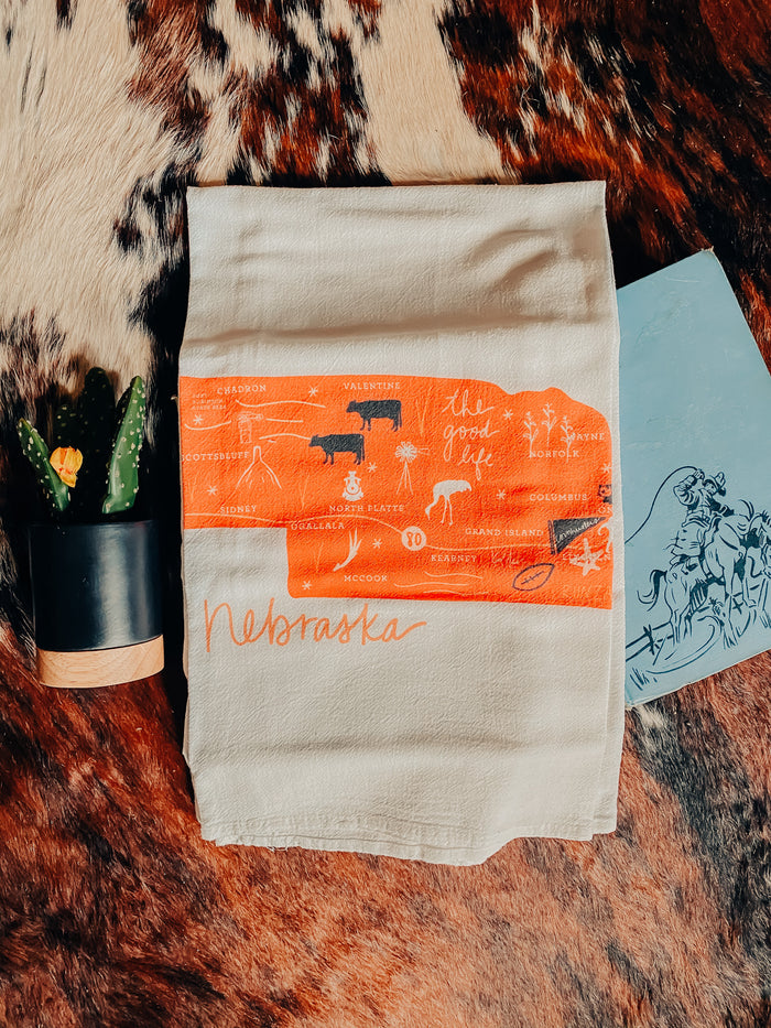 Nebraska Flour Sack Towel