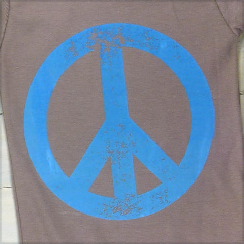 organic cotton peace onesie for the natural baby