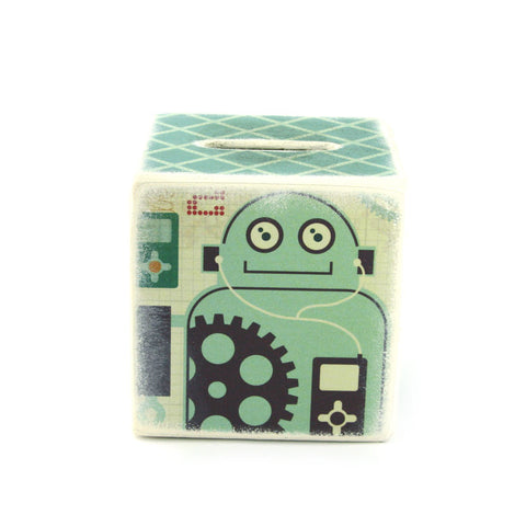 robot piggy bank great gift for a boy