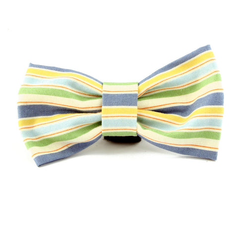 Striped dog bow tie made in America