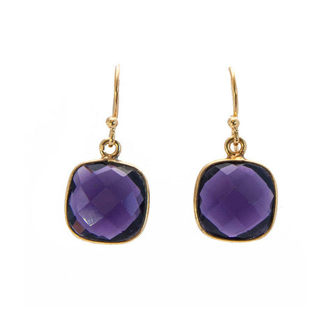 Made in America Amethyst Topaz Dangle Earrings