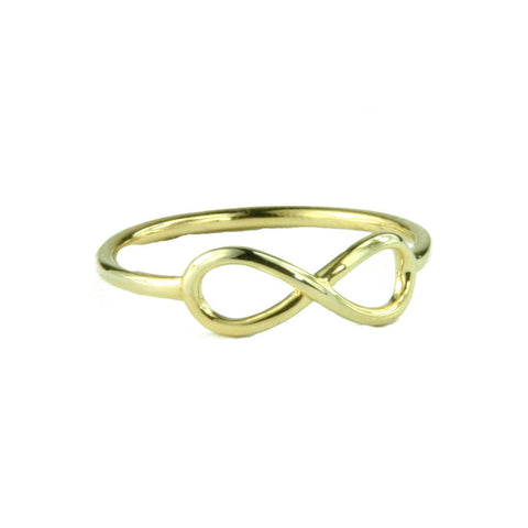 Gold Plated Infinity Ring - Made in the USA