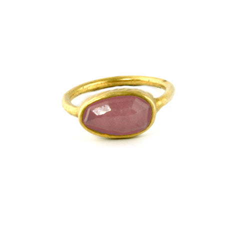 July Birthstone Ring Pink Ruby Pink Sapphire