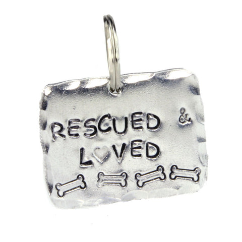 Rescued and Loved Dog Tag Made in America