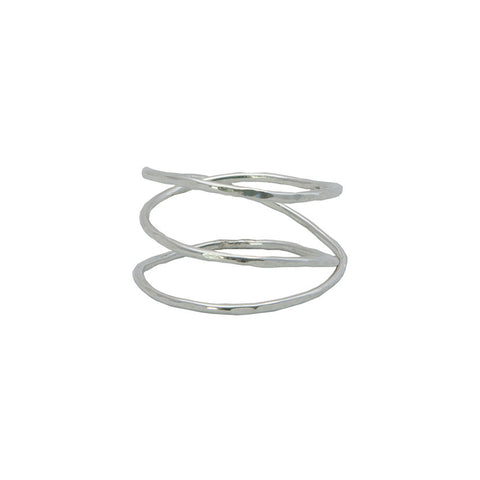 Organic Twisted Coil Ring