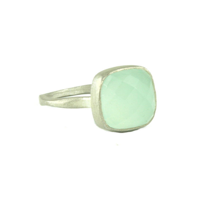 blue aqua gemstone ring oval silver buy handmade rings chalcedony