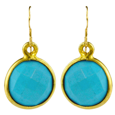 December Turquoise Birthstone Earrings