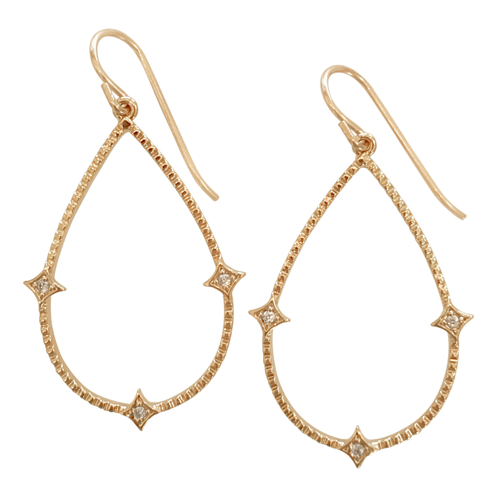Crystal Teardrop Hoops
