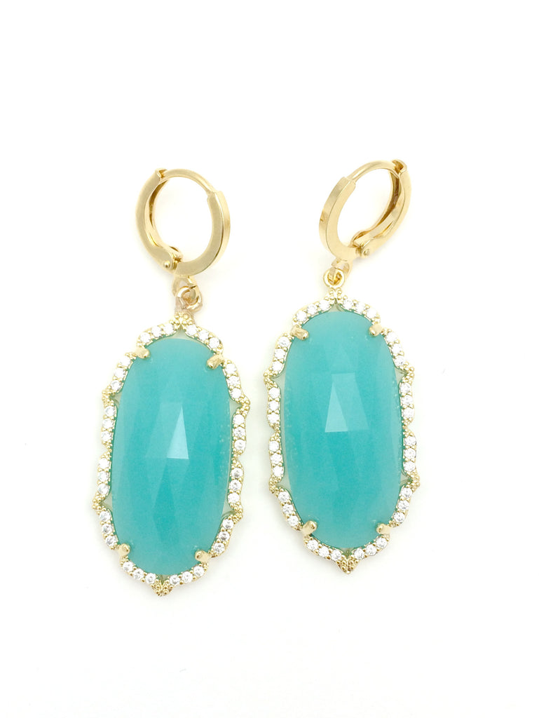 Turquoise Crystal Detail Drops