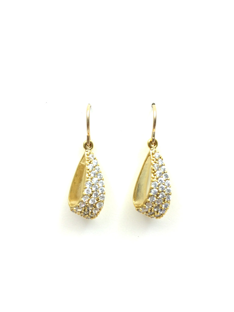 Crystal Pave Teardrop Earrings