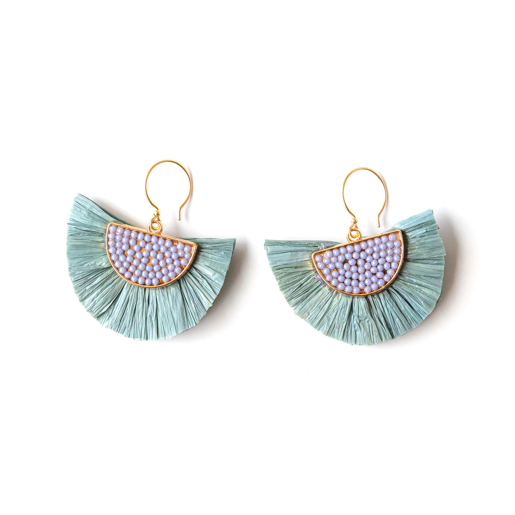 Beaded Fan Earrings (more colors!)