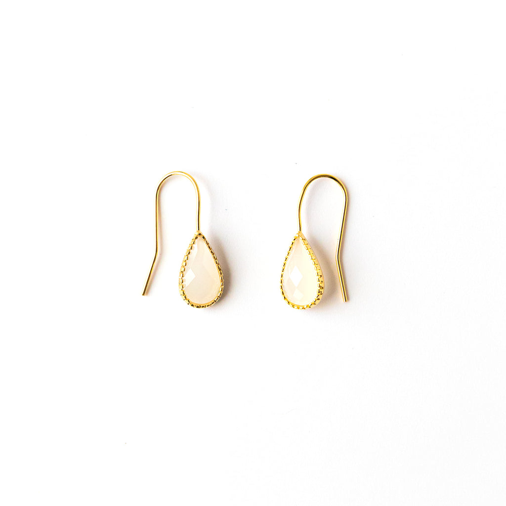 White Smoke Teardrop Earrings