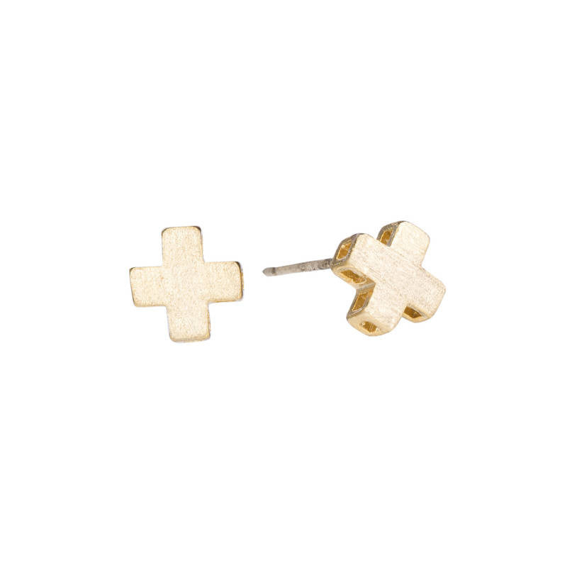 Swiss Cross Stud Earrings