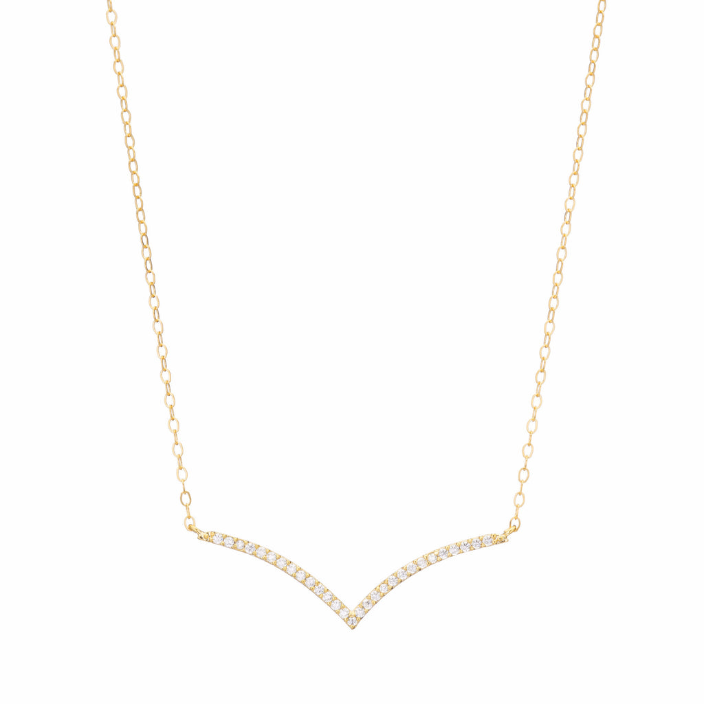 Dainty Gold Crystal Necklace