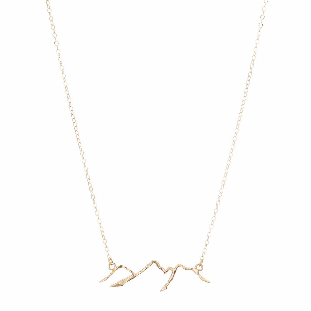 14K Gold Mountain Necklace