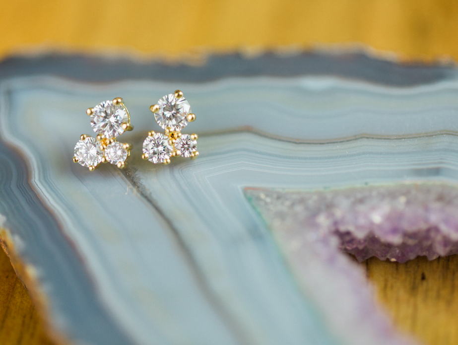 Petite Crystal Post Earrings
