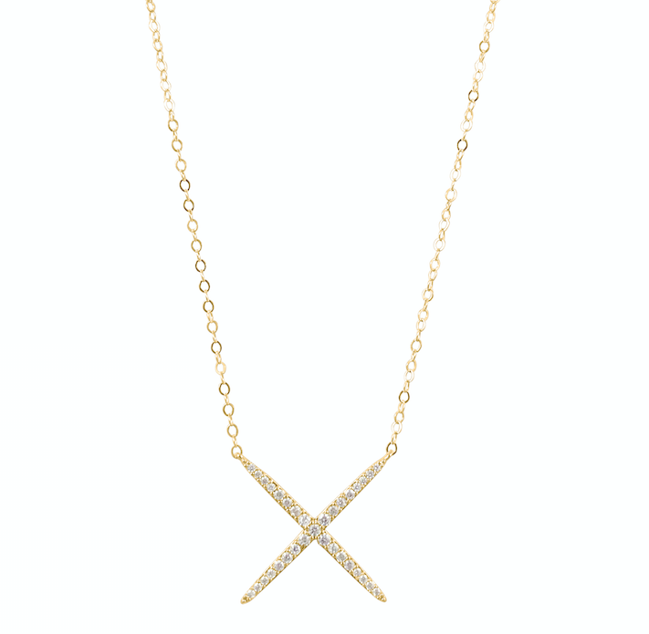 "Crystal ""X"" Necklace"
