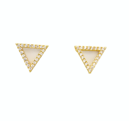 Triangle Crystal Post Earrings