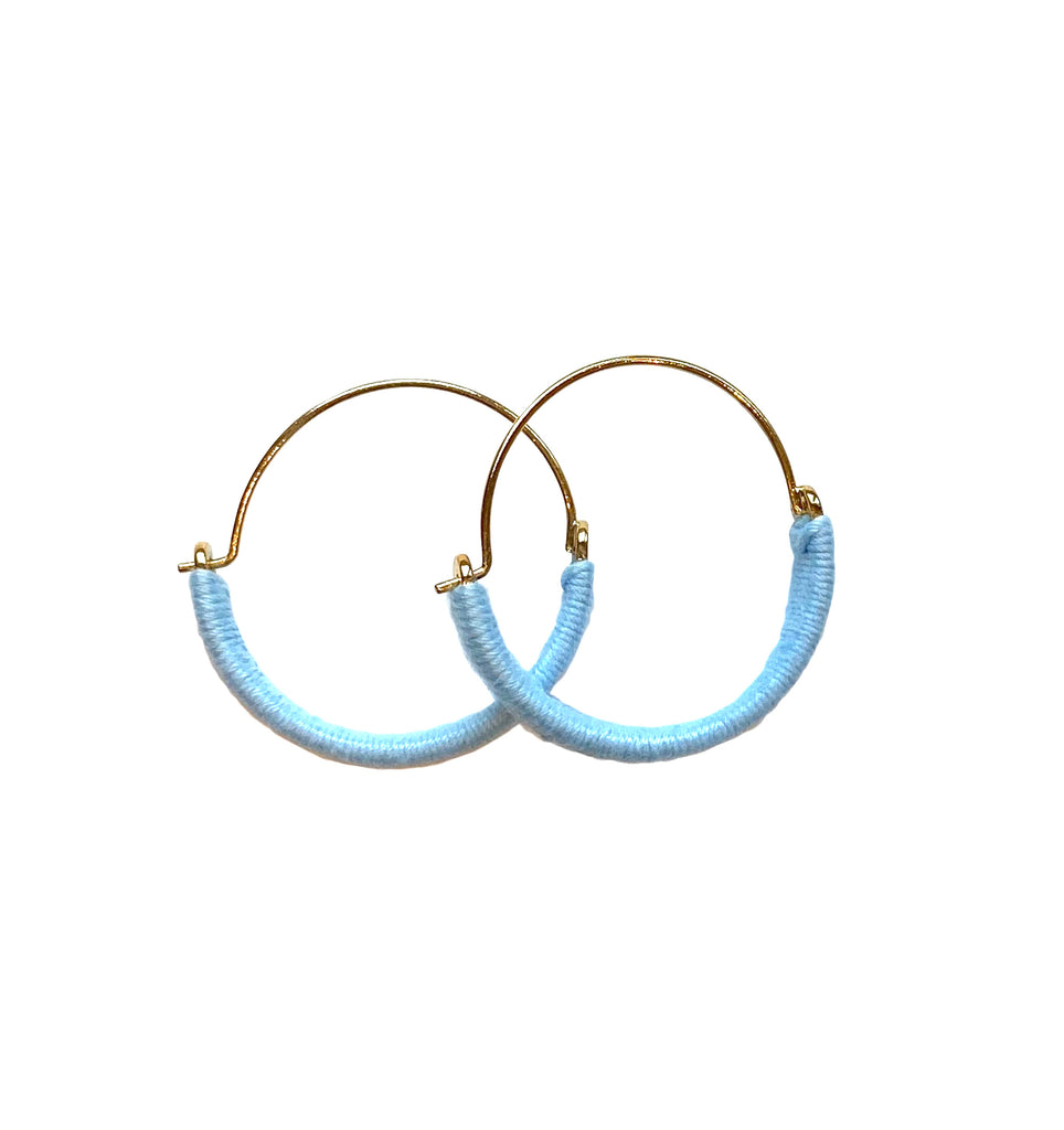 Yarn Wrapped Hoop Earrings - More Colors!
