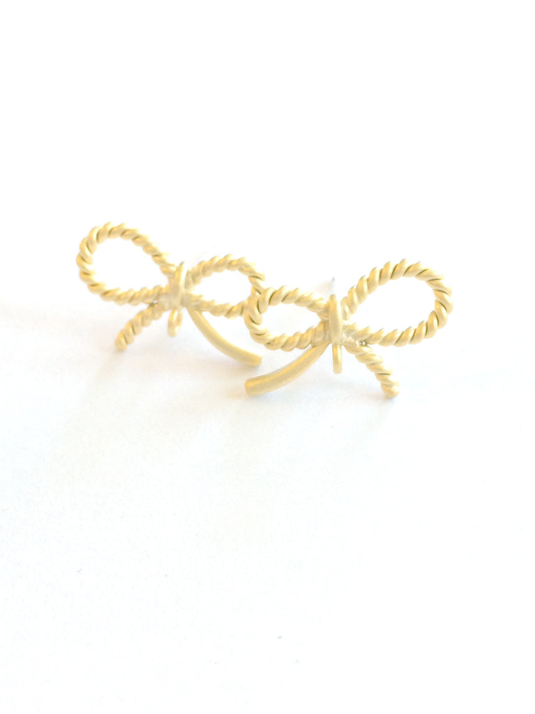 Petitie Bow Post Earrings