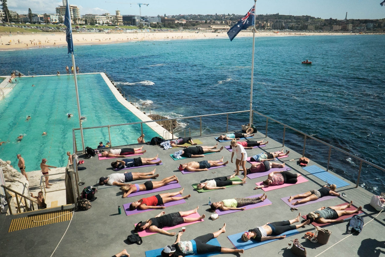 Image result for yoga by the sea icebergs