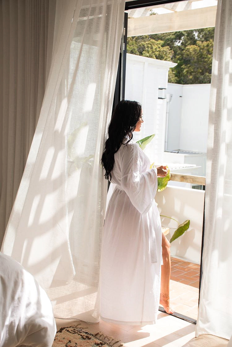 White Summer Robe - Maxi