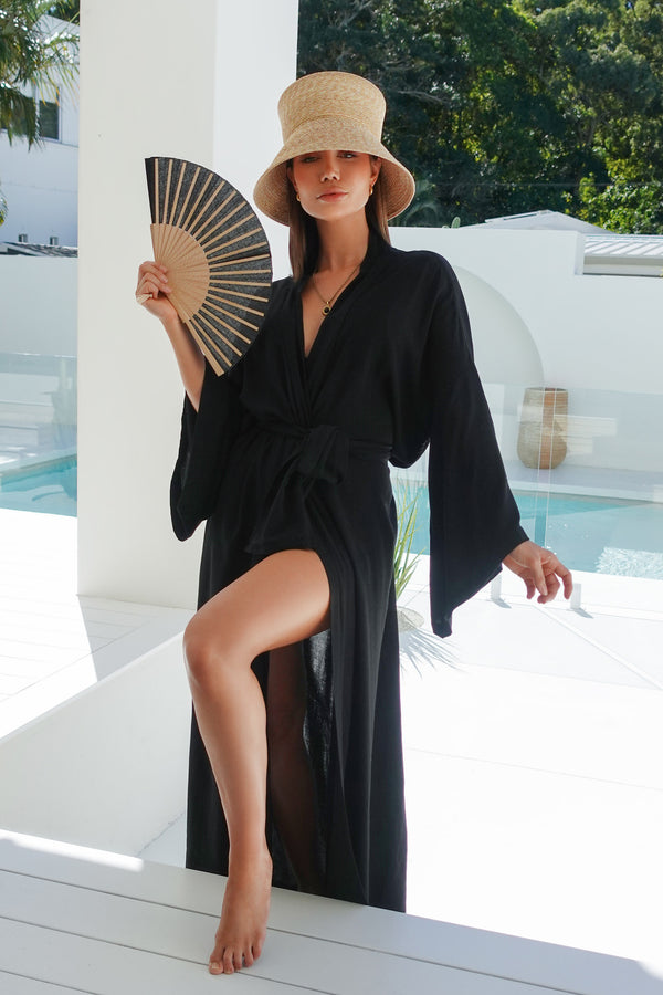 Black Summer Robe - Maxi