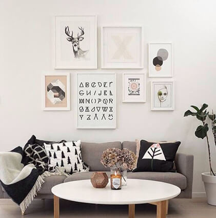 Creating your own wall art cluster has never been easier