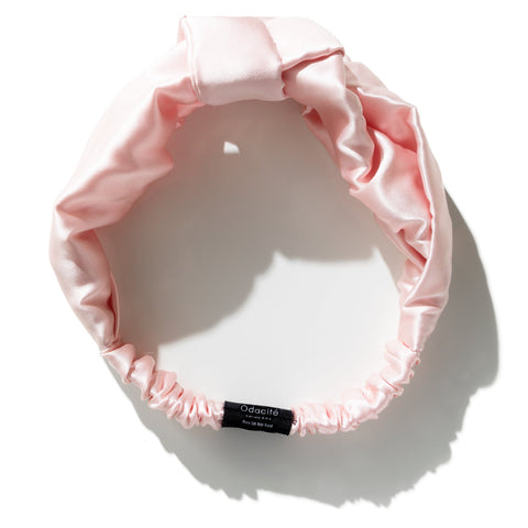 Chic Pink Silk Headband